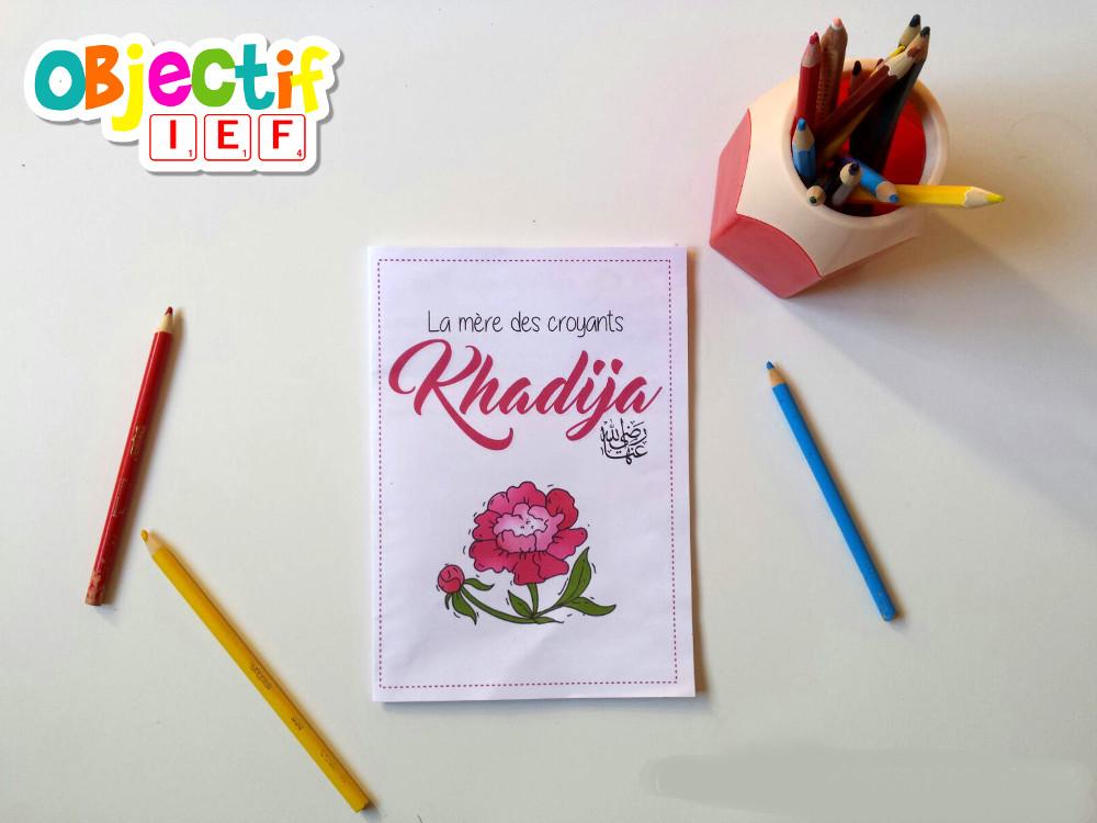 livret d'activité gratuit khadija Objectif IEF