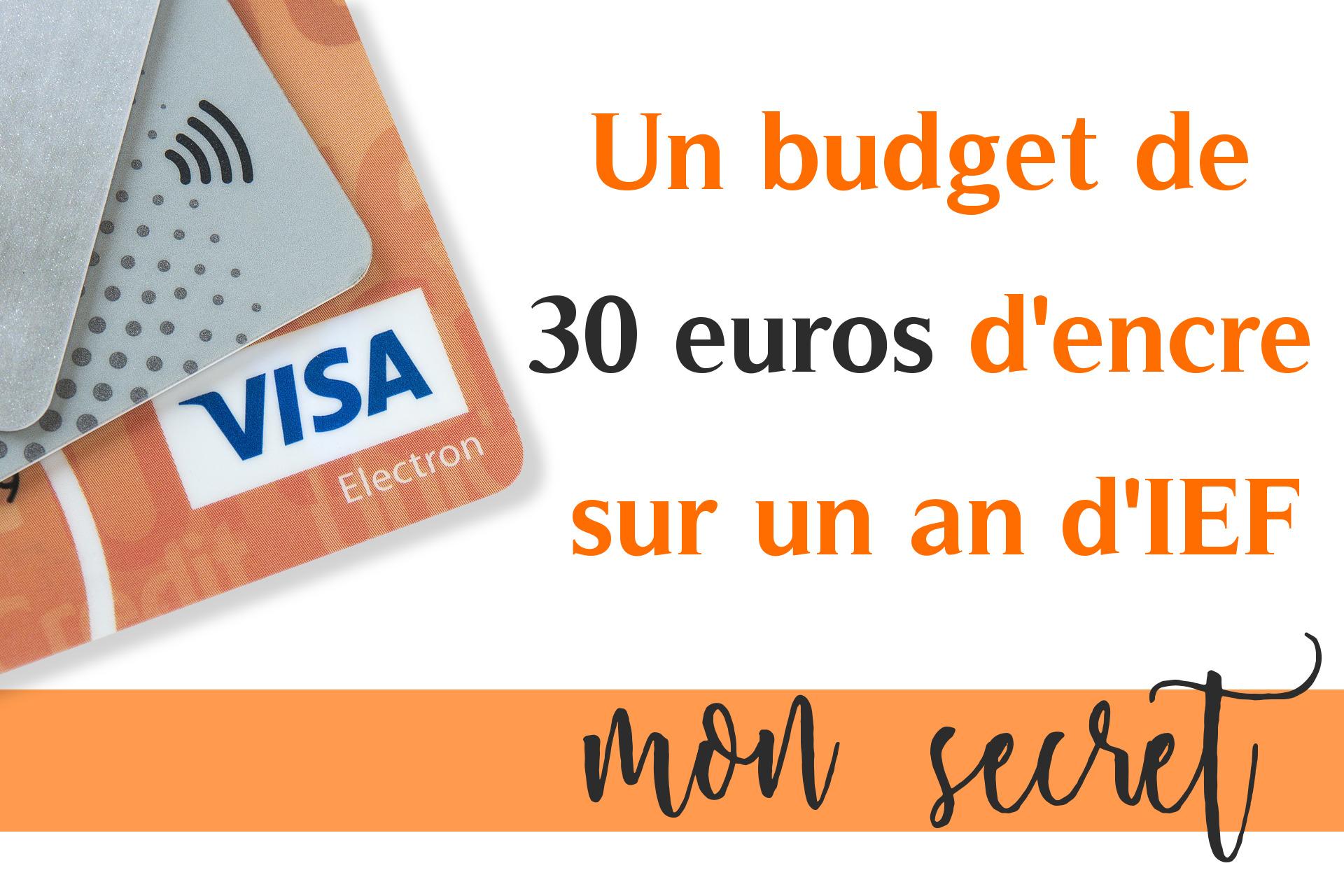 budget encre 30 euros sur un an Objectif IEF
