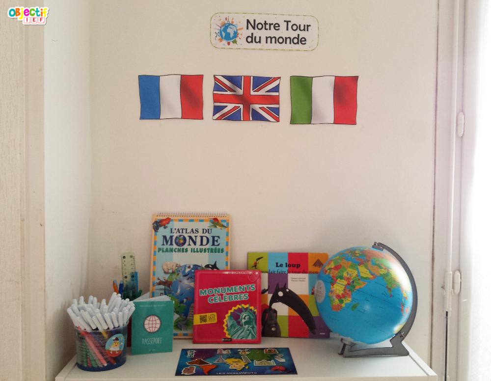 tour du monde ressources et supports maternelle primaire cycle 1 et 2