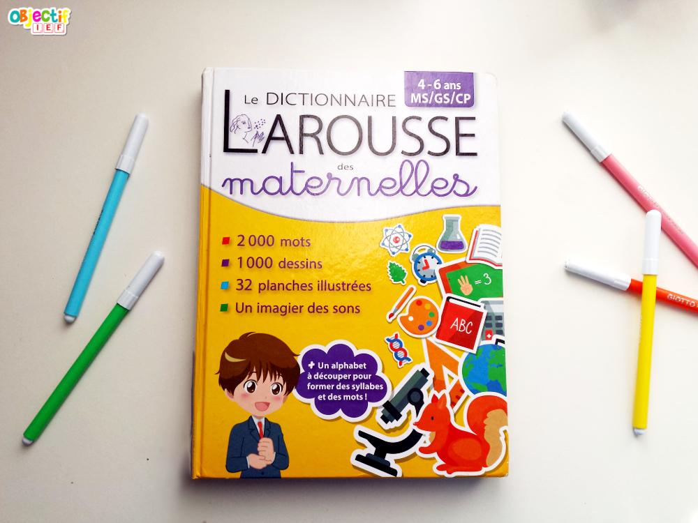 dictionnaire enfant mon utilisation choix larousse Objectif IEF