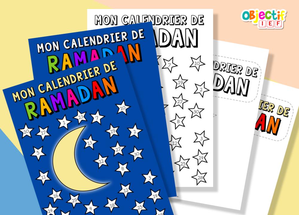 calendrier de ramadan objectif IEF gratuit