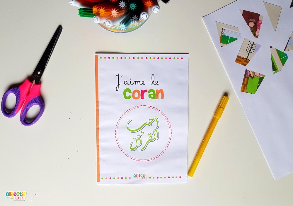 J'aime le coran livret d'activité gratuit islam enfant objectif ief