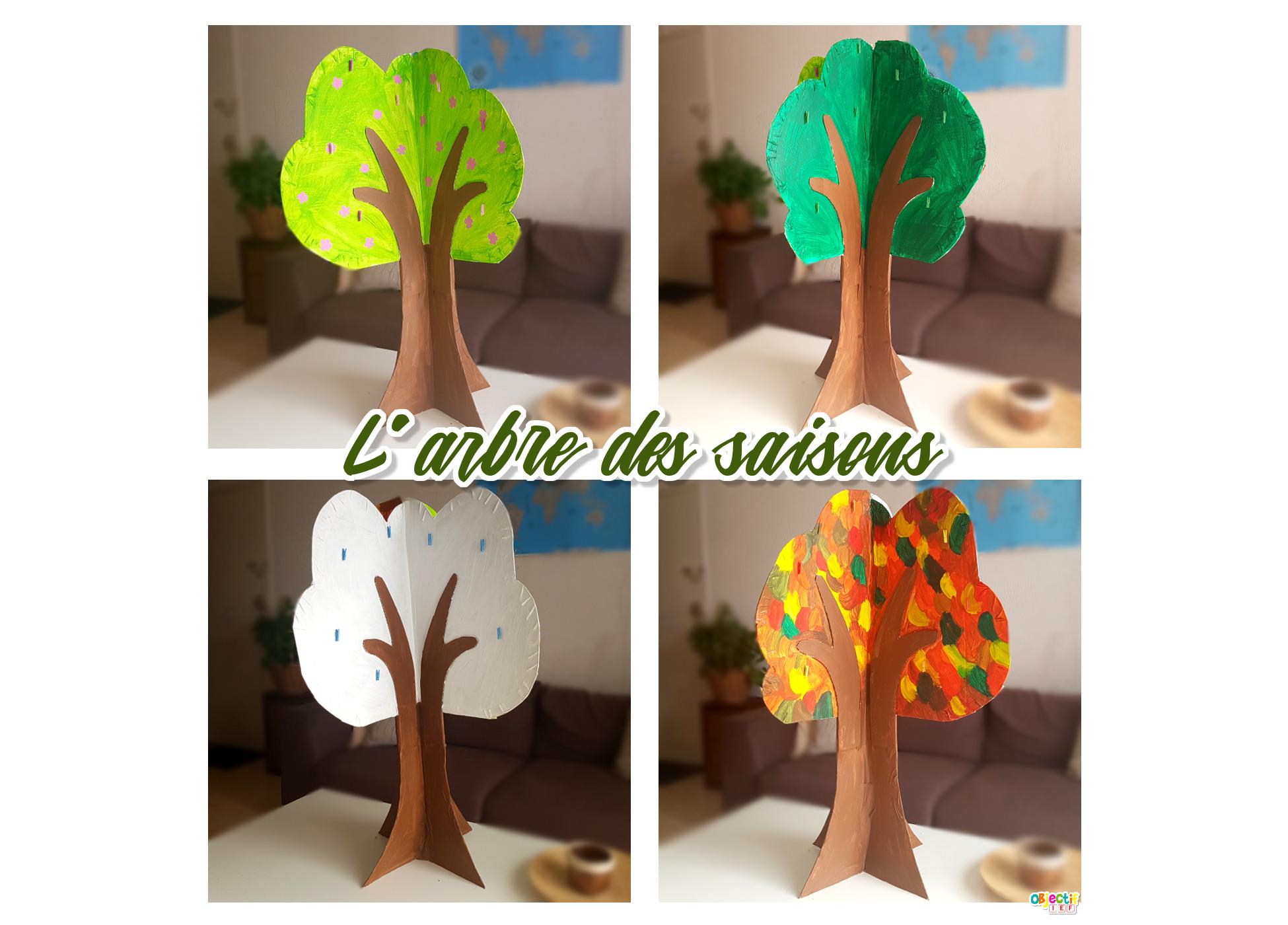 activité arbre des saisons IEF instruction en famille activité enfant objectif IEF