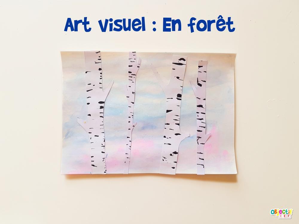 En forêt art visuel hiver objectif ief thème