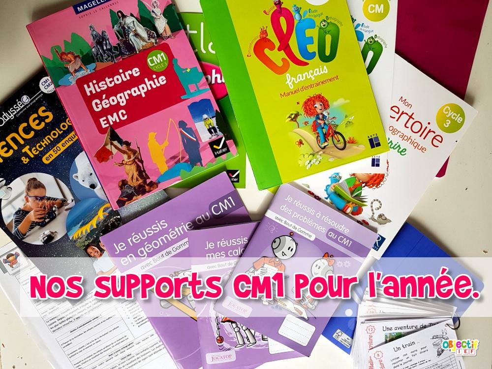 programme cm1 supports CM1 pour l'année histoire géographie éducation civique et orale science art maths dictée expression écrite instruction en famille objectif ief manuels cm1