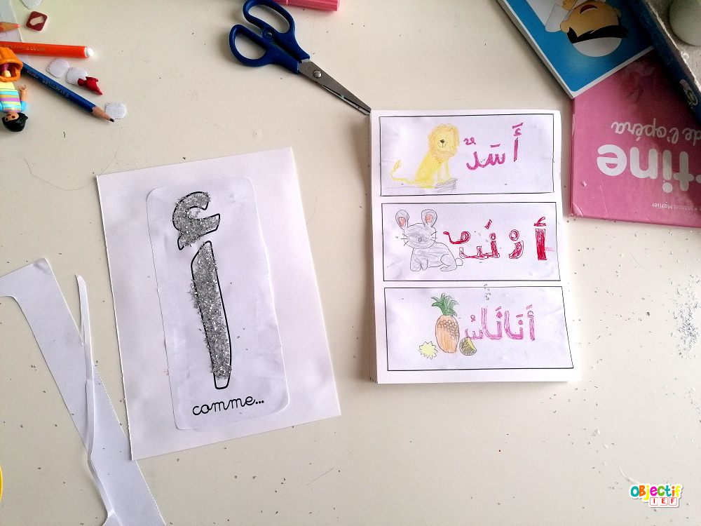 abécédaire arabe challenge créatif confinement ief instruction en famille école à la maison activité enfant