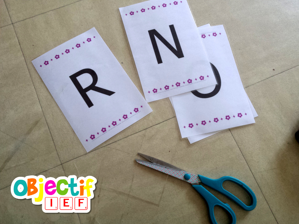 alphabet mobile gratuit prénom Objectif IEF