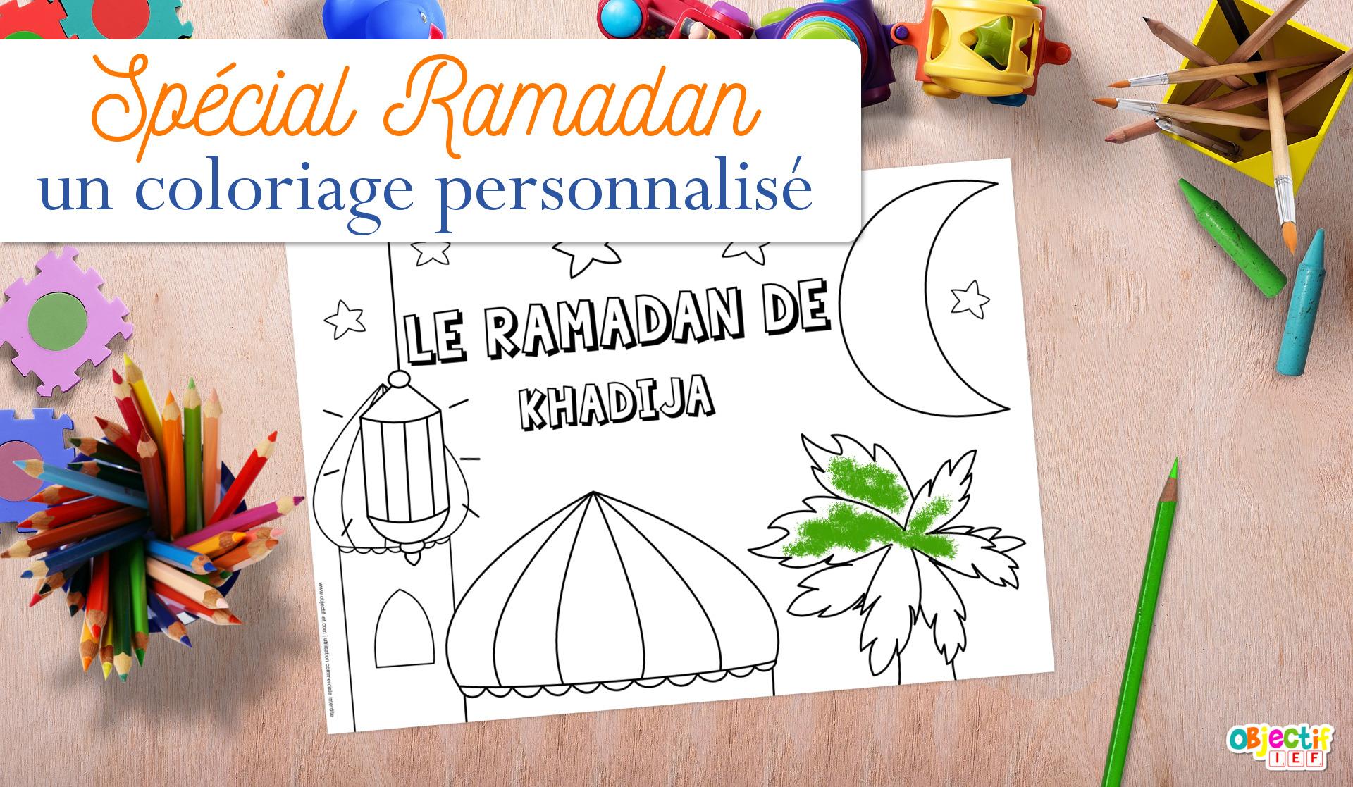 coloriage de ramadan prénom objectif ief