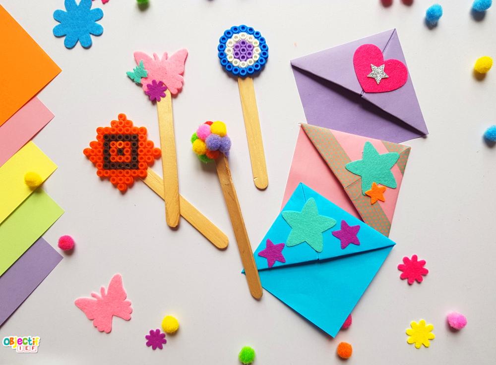 marques pages ramadan activité enfant Objectif IEF origami bâtonnets bois baton