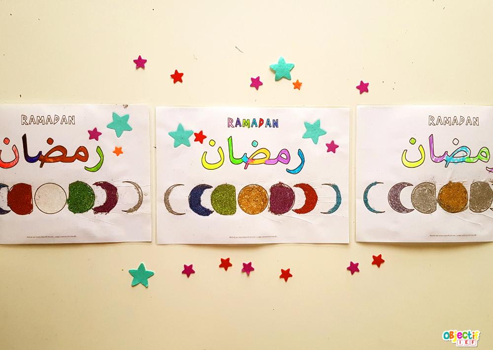 cycle de la lune coloriage ramadan objectif ief activité islam