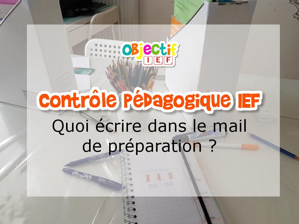 contrôle pédagogique ief préparer document mail envoyer inspection académique ief instruction en famille