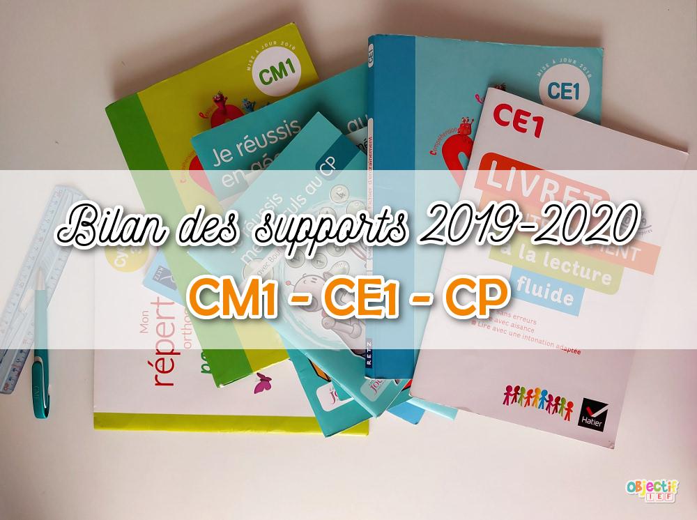 bilan 2019-2020 supports maths français bout de gomme cleo retz répertoire lecture ce1 ce2 cp ief objectif ief instruction en famille programmation école à la maison
