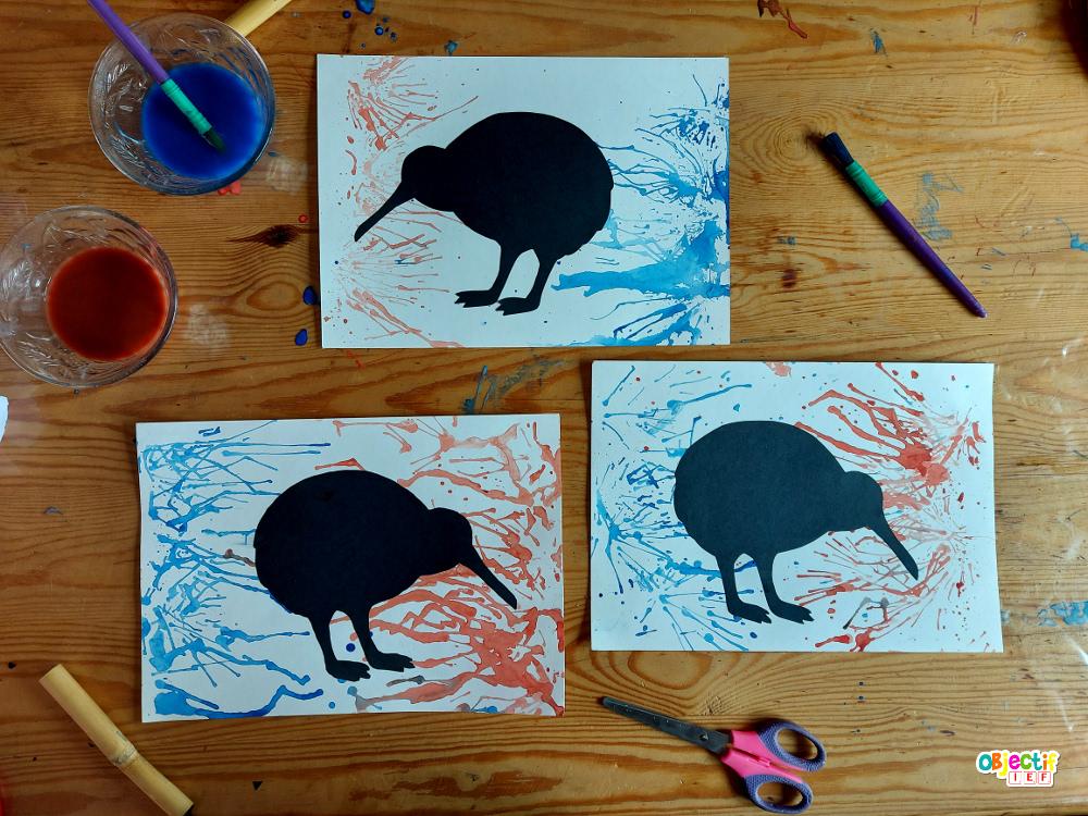 art visuel Nouvelle Zélande kiwi oiseau endémique objectif ief instruction en famille