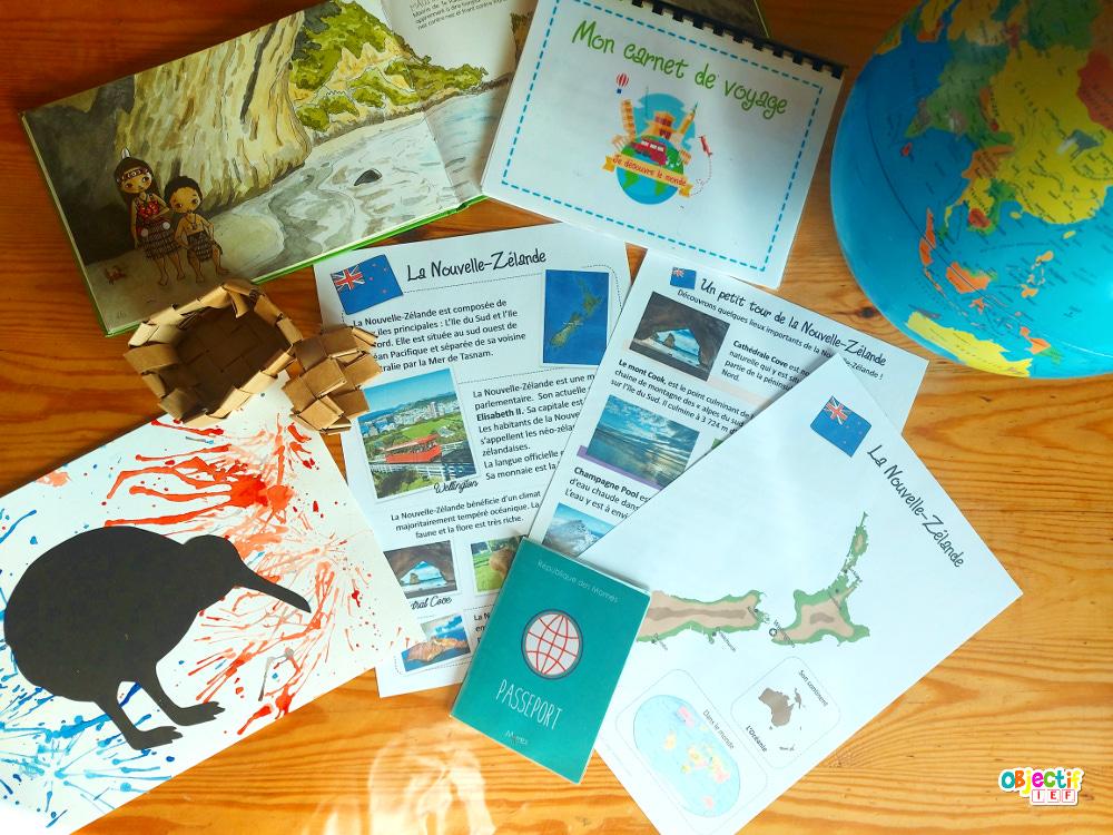 Nouvelle Zélande tour du monde ief découverte du monde activités enfants instruction en famille objectif ief